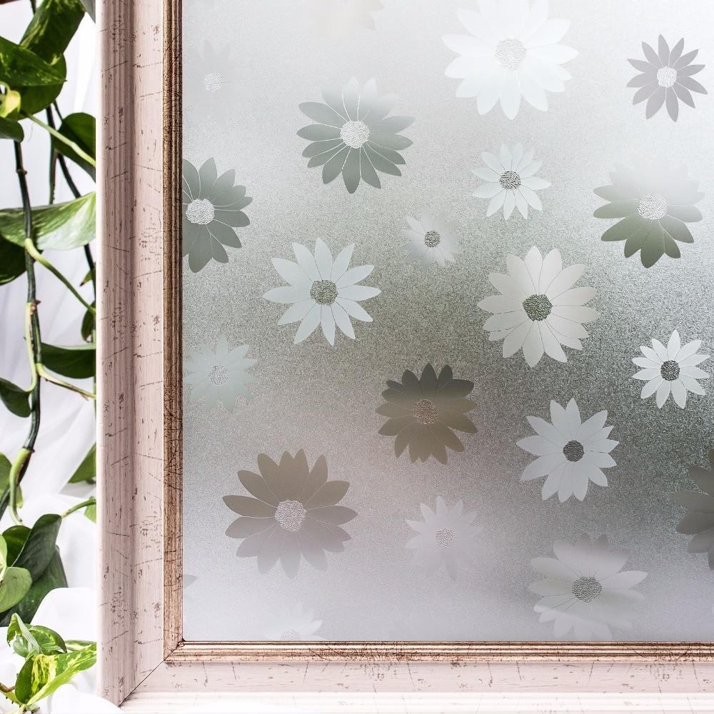 BumbacColori Filme de ferestre din PVC Acoperire fără lipici 3D - Decoratiune interioara