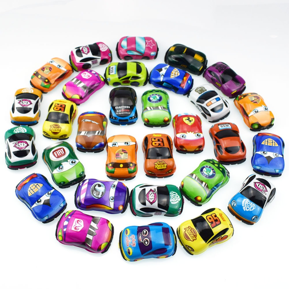 5Pcsset Baby Car Toys Lovely Soft PVC Pull Back Toy Cars for Child Wheels Mini Car Model Funny Kids Toys Christmas Gifts