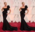 New Fashion Celebrity Dresses Of Nancy O Dell One Shoulder Mermaid Long Formal Sexy Black Prom Evening Gowns On 2017