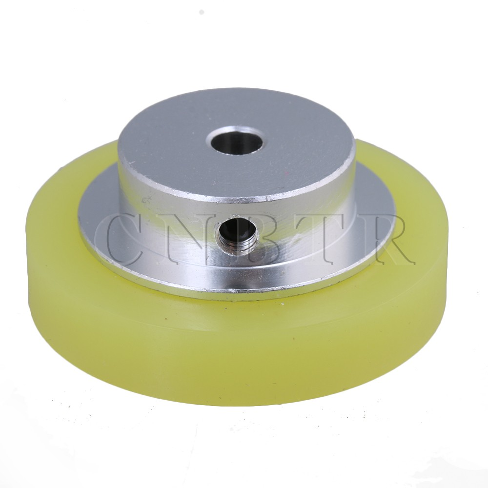 CNBTR 50x6mm Yellow Silver Industrial Aluminum Silicone Rotary Encoder Measuring Wheel for Measuring Conveying Speed & Positio