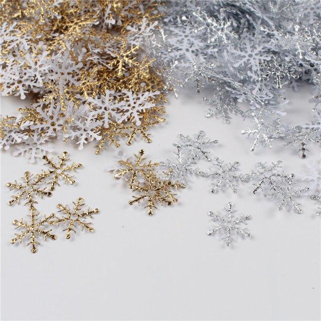 300 teile/los 2cm Weihnachten Schneeflocke Hochzeit Werfen Konfetti DIY Zubehör Home Tisch Dekoration Partei Liefert Ornament 62538
