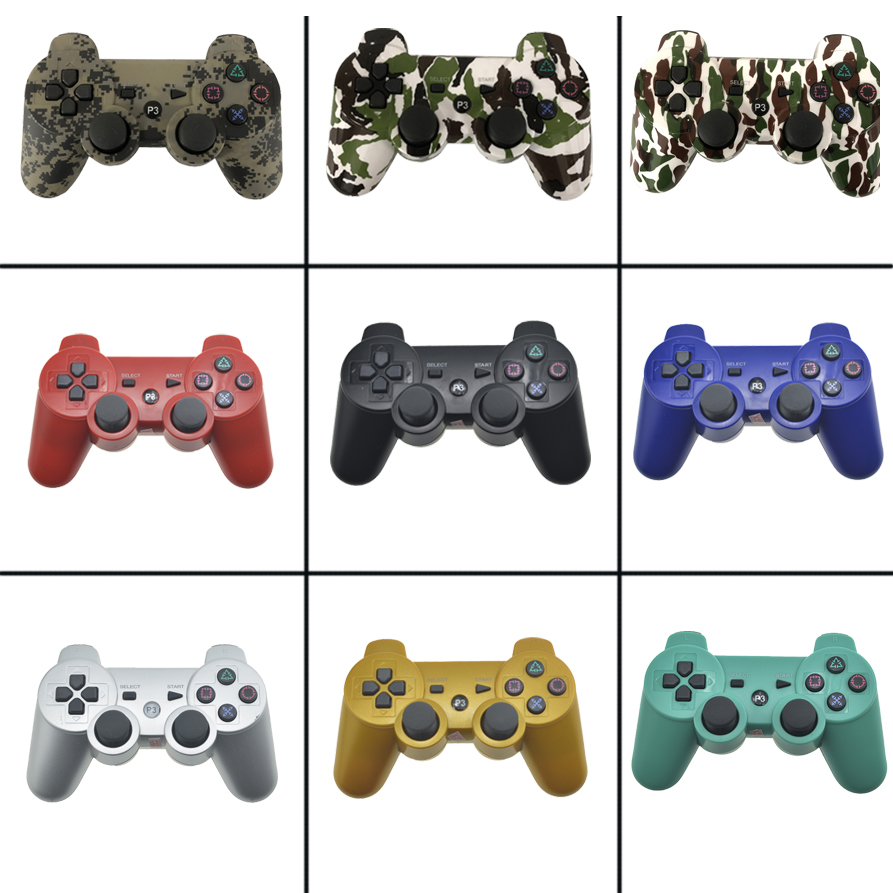 For SONY PS3 Controller Bluetooth Gamepad for Play Station 3 Joystick Wireless Console for Sony Playstation 3 SIXAXIS Controle sixaxis blueloong 2pcs red and blue color wireless bluetooth joystick gamepad for dualshock 3 playstation 3 ps3 controller