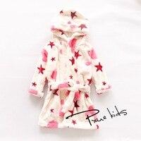 Brand Children Pajamas Bathrobe Baby Boy Girl Dressing Gown Flannel Nightgown Kids Winter Sleepwear Hooded Robe