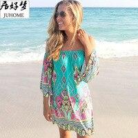 플러스 사이즈 여성 의류 2017 여름 Sundress 캐주얼 패션 스케이팅 녹색 드레스