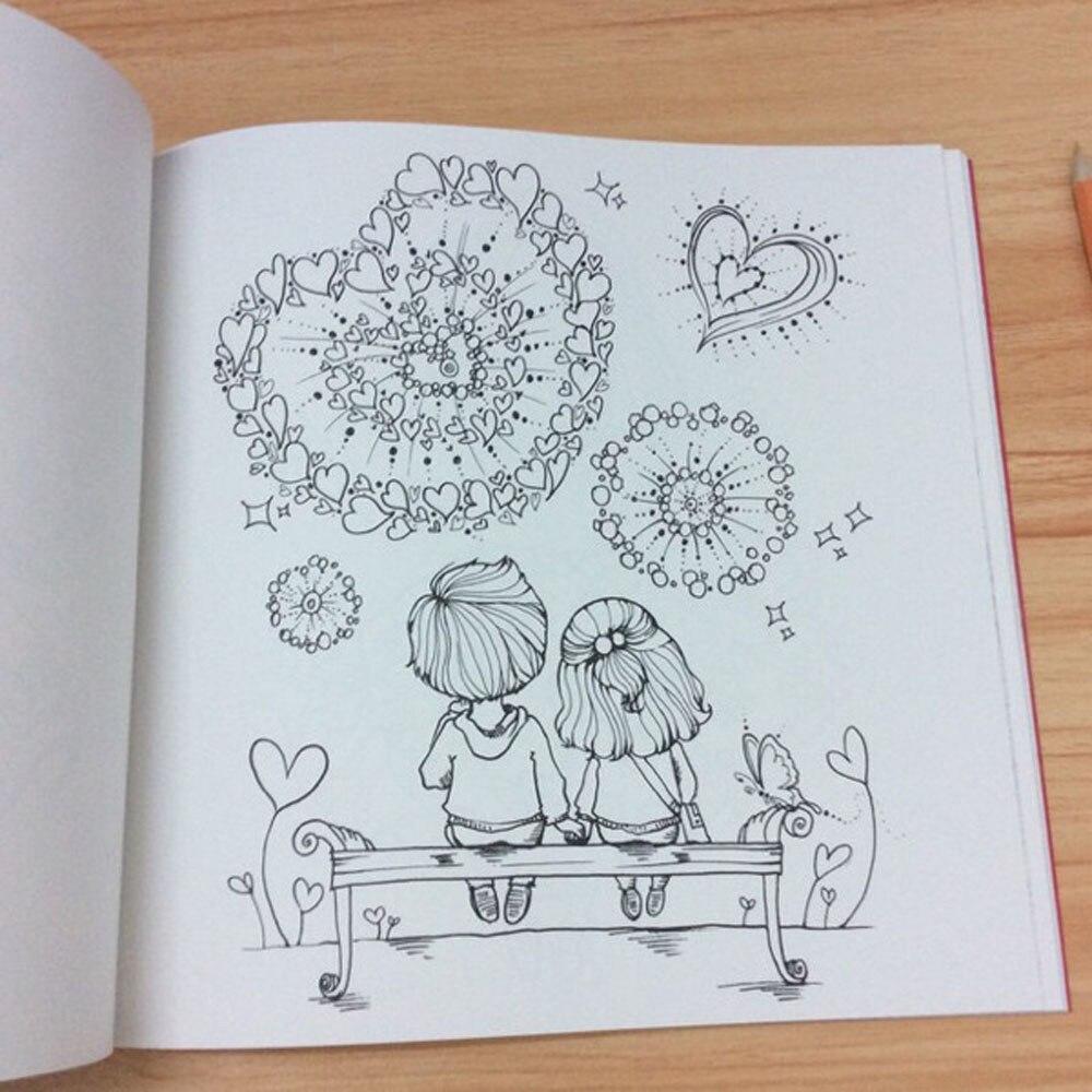 №Romántico libro para colorear para adultos amante de aliviar el ...
