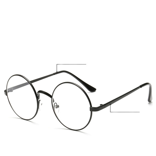 fa8d5ebbae 1 PC Chic Eyeglasses Retro Big Round Metal Frame Clear Lens Glasses Nerd  Spectacle