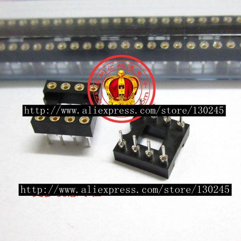 (100PCS) The 8P pin hole IC block amp socket DIP8 round pin dip IC socket 8 foot hole seat