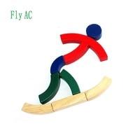 Fly AC Montessori Pädagogisches Hölzernes Spielzeug Für Kinder Sport bausteine Spielzeug Baby Entwicklung Praxis und Sinne Spielzeug Geschenk auf