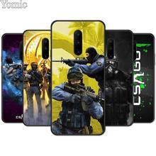 CS GO Counter Strike Gun Strike Black Soft Case for Oneplus 7 7 Pro 6 6T 5T Silicone Phone Case for Oneplus 7 7Pro Cover Shell