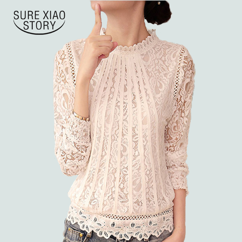 2016 New Summer Ladies White Long Sleeve Chiffon Tops Blouses Women fashion elegant casual shirt 51C - New Long-sleeve Women Embroidery Giraffe Leaves Shirt female