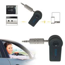 Universal 3.5mm Streaming Car A2DP Wireless Bluetooth Car Kit AUX Audio Music Receiver Adapter Handsfree with Mic