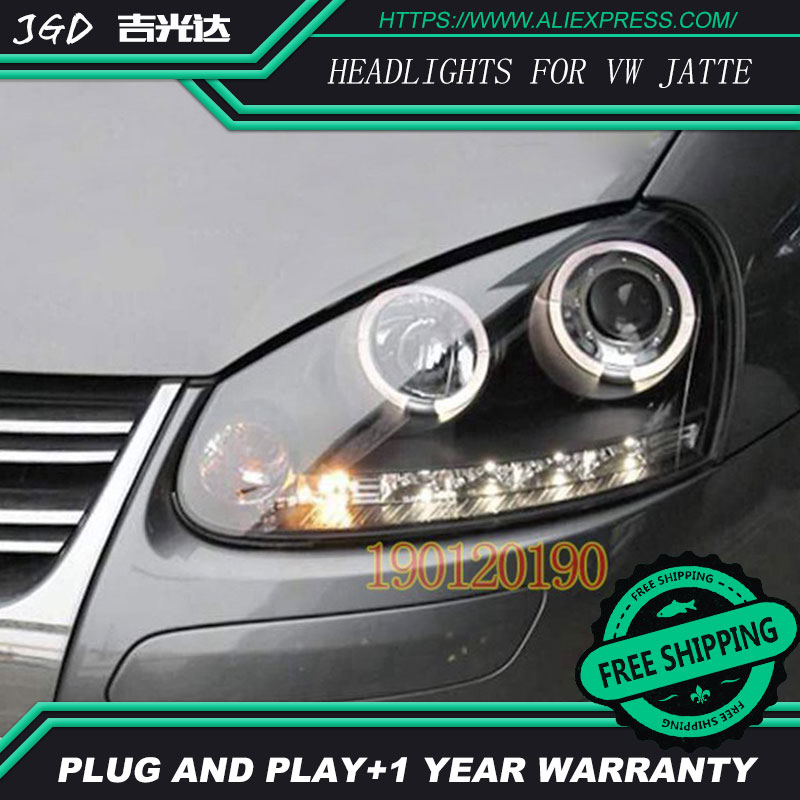 HID LED headlights headlamps HID Hernia lamp accessory products case for VW Volkswagen Jetta 2007-2011 Car styling