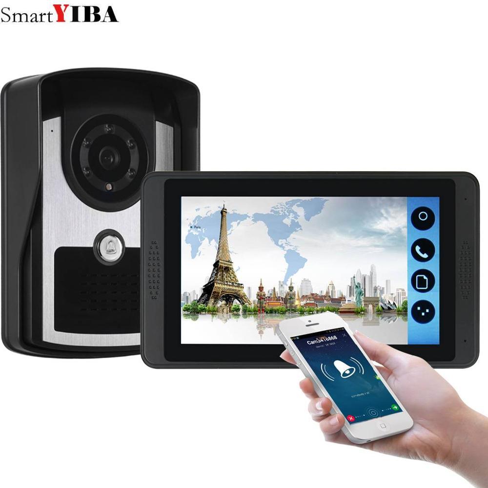 7inch Wired / Wireless Wifi 720P Video Door Phone Doorbell Intercom Entry System,Support Remote APP Unlocking,Recording,Snapshot