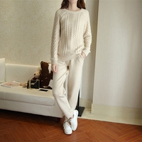 American and European cashmere suit women's fall fashion 2018 new styles of retro goddess makings and knitted two pieces