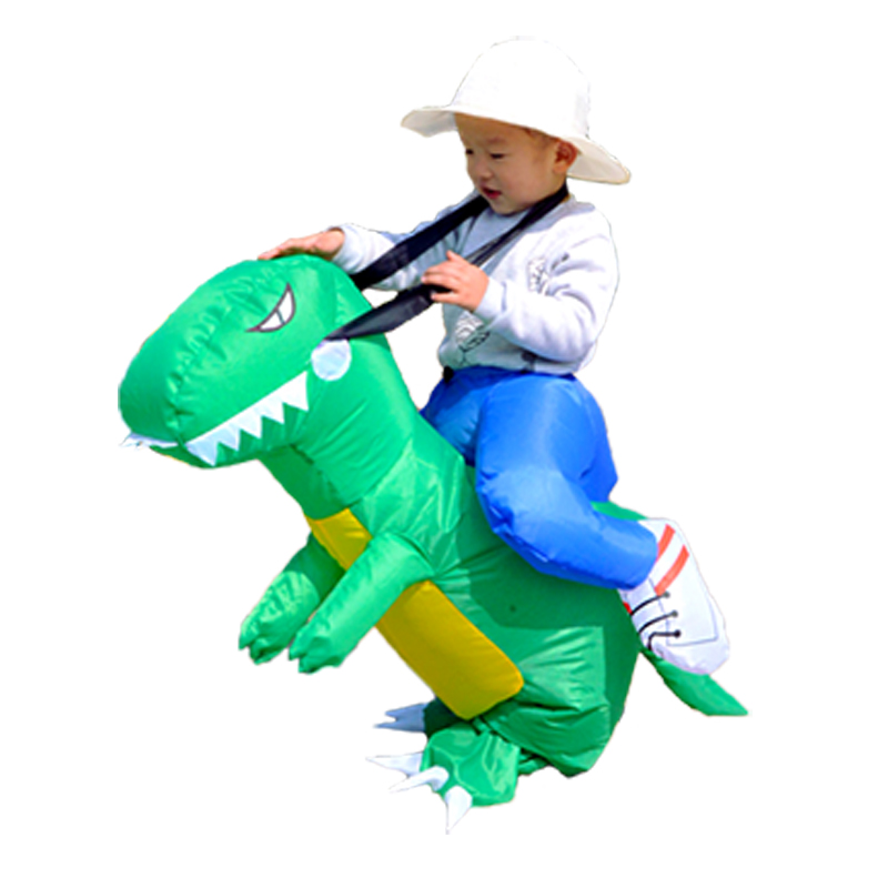 Inflatable Dinosaur Kids Costume T-Rex Dino Rider Outfits Cosplay Purim Halloween Dragon Party Carnival Blow Up Toys Fancy Dress