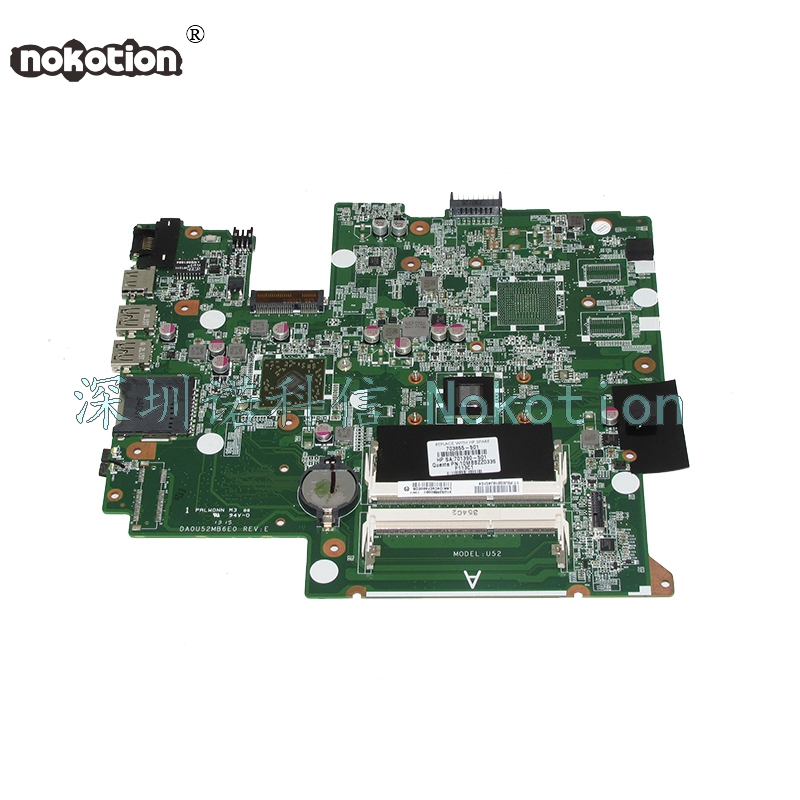 NOKOTION DA0U52MB6E0 703855-501 703855-001 Laptop motherboard For HP Pavilion Sleekbook 14 14-B Main board full test nokotion for hp sleekbook 14 b laptop motherboard 714618 501 715866 501 da0u33mb6d0 with i3 2367m cpu onboard