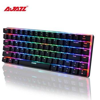 Originl AJAZZ AK33 Mechanical Gaming Keyboard RGB E-sport Keyboard 82 Keys USB Wired Anti-Ghosting for LOL PC Overwatch Desktop