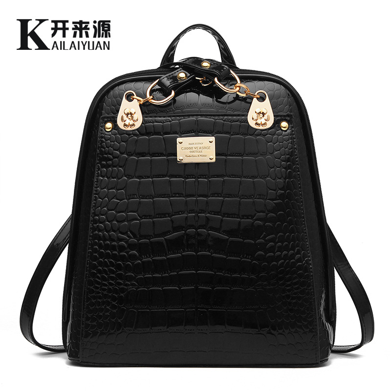 Backpack Bag 2016 New Tide Female Backpack New Student Han Edition Fashion Bright Skin
