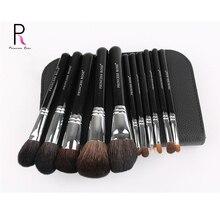 Princess Rose 11PCS Professional Makeup Brushes set Kit Black Powder Function Eyeshadow LIP Make up Tool Goat Hair