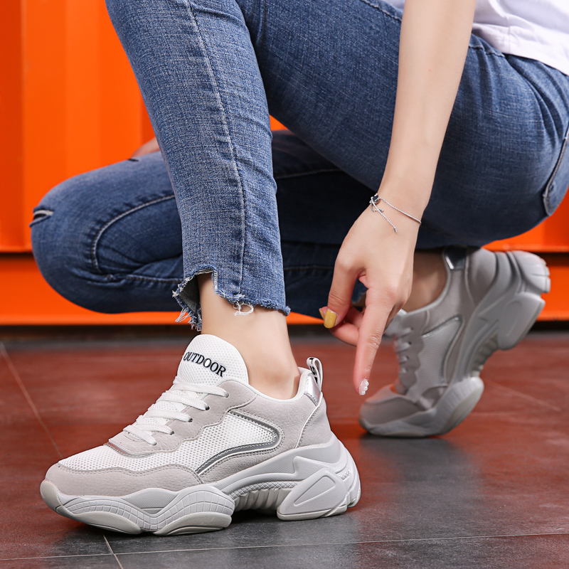 Strong Quality Female Running Shoes Tide Height Increasing Fitness Women Sneakers Top Selling Outdoor Sports Shoes For Woman(China)