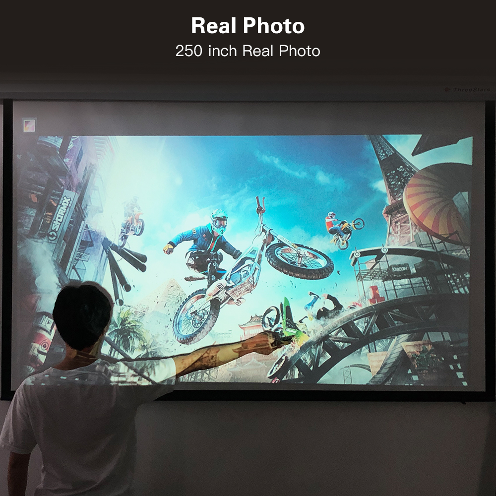 Image 2 - CRENOVA 2019 Newest 6000 Lumens Android 7.1OS Video Projector Support 4K Dolby Video Home Cinema Movie Beamer, Optional (2G 16G)-in LCD Projectors from Consumer Electronics