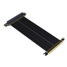 PCI E X16ถึง3.0 X16ชายหญิงRiserสายต่อขยายกราฟิกการ์ดPCติดตั้งChasis PCI Express Extender Ribbon 128G/Bps