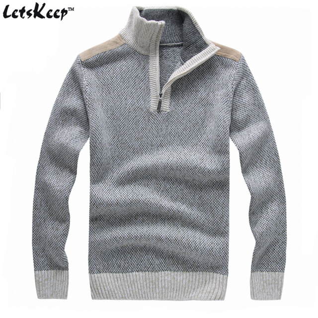 0ebdb5ebf48 New LetsKeep 2016 men's wool pullover sweaters jumpers stand collar  sweaters men thick loose sweater for men plus size,MA267-in Pullovers from  Men's ...