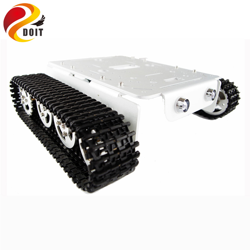 DOIT T200 RC Metal Tank Chassis Robot Crawler Tracked Caterpillar Track Chain Car Vehicle Mobile Platform Tractor toy official doit rc metal tank chassis wall caterpillar tractor robot wall e crawler wall brrow land car diy rc toy remote control