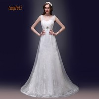 Mermaid Wedding Dresses V Neck Beading Sequins Lace Long Bridal Dress Elegant Real Sample Women Gowns