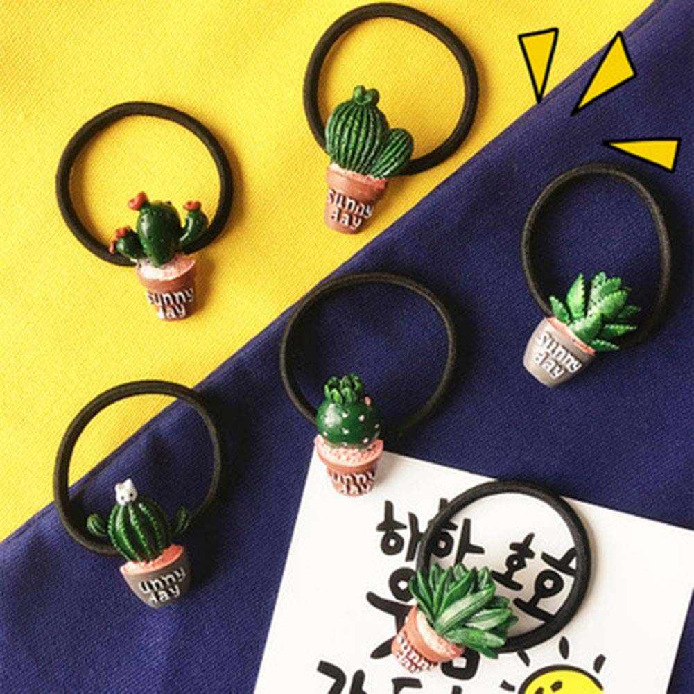 1pcs !!! Plant Style Hair Accessories Cute Cactus Hairband different style Elastic Hair Bands Headwear New Women rubber band