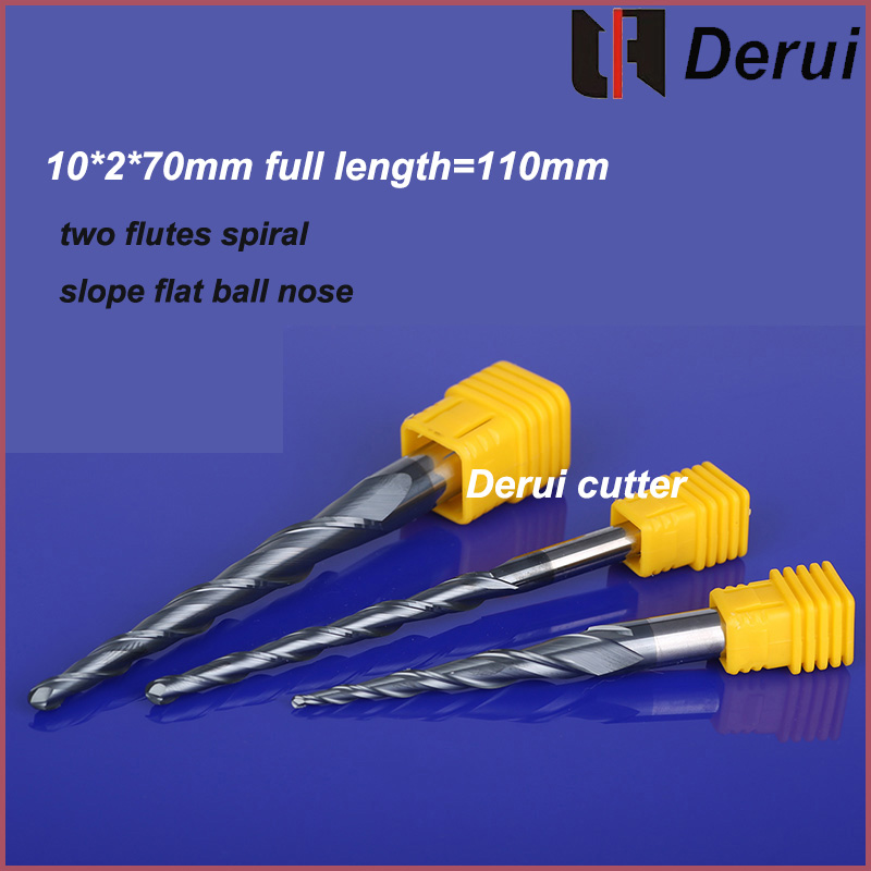 50PCS two flutes spiral slope Tungsten Solid Carbide Tapered Taper and Cone Ball Nose End Mills Milling Cutter CNC Router Bits free shipping 10pcs carbide cnc router bits two flutes spiral end mills double flutes milling cutter spiral pvc cutter 4mm 22mm page 4