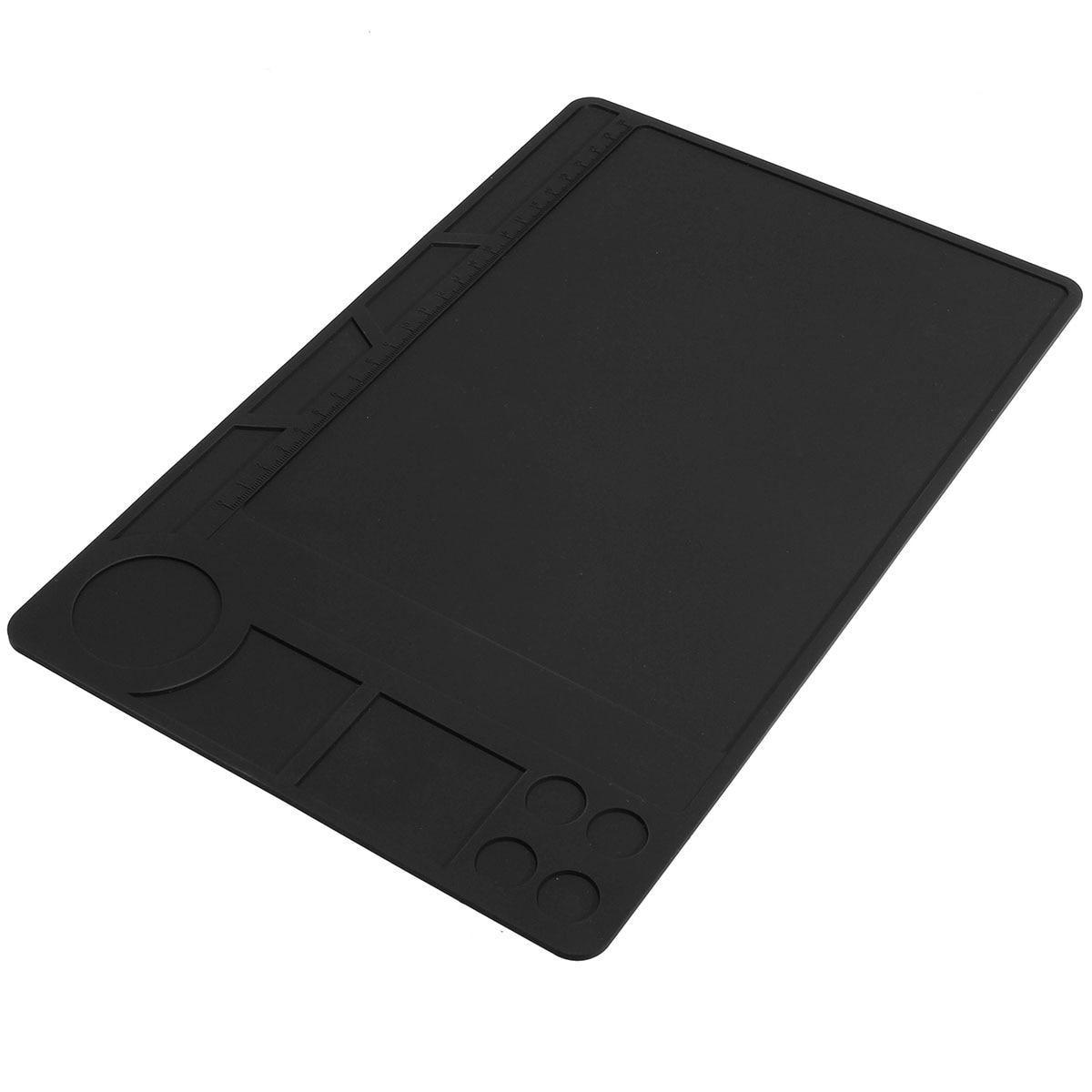 Hot Sale Heat Resistant Silicone Mat Soldering Pad Platform Heat BGA Soldering Station Repair 329x208mm Black