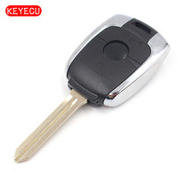 Keyecu Remote Key Shell Case Fob 2 Button For SsangYong Actyon Kyron Rexton Korando With Uncut