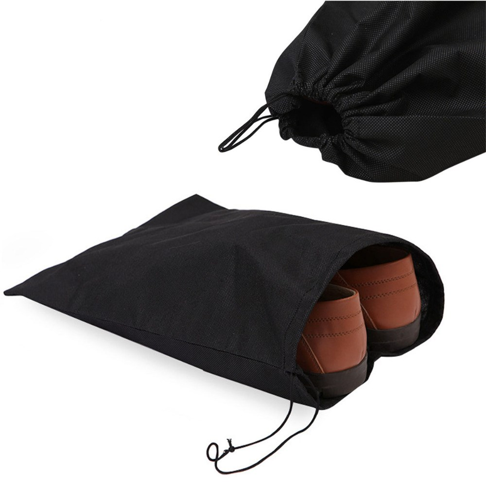5 PCS Carry B Ag Travel Sports Shoes Canvas Sandals Dust Proof Drawstring Organizer S Torage Pouch Protector Container