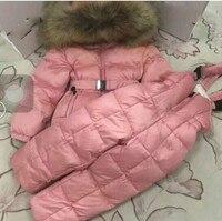 Костюм для мальчиков и девочек Детский костюм для русской зимы; зимний костюм куртка с бабочками + лыжные Штаны