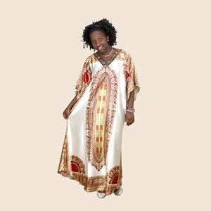Image 3 - Afrykański dashiki druku diament suknie z aplikacjami dla damska suknia africaine femme 2019