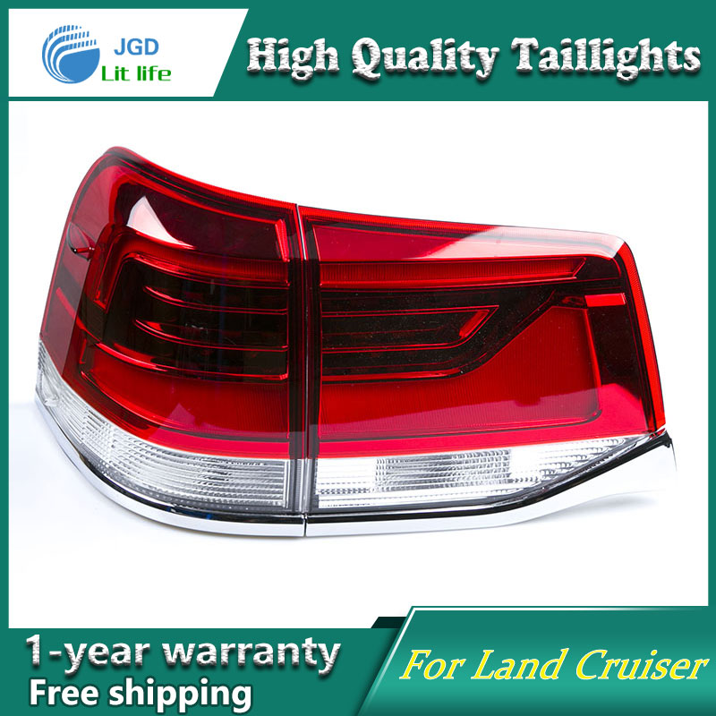 Car Styling Tail Lamp for Toyota Land Cruiser 2016 taillights Tail Lights LED Rear Lamp LED DRL+Brake+Park+Signal Stop Lamp car styling tail lamp for toyota prius taillights tail lights led rear lamp led drl brake park signal stop lamp