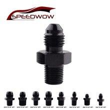 """SPEEDWOW motor parçaları alüminyum düz adaptör yağ soğutucu uydurma erkek AN8 1/4 """"AN8 3/8"""" AN6 TO 3/8 """"AN4 1/4"""" NPT"""