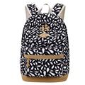 Alta Calidad Bunuck Cuero Mochila Mochilas escolares para Las Niñas Adolescentes Bolsas Feminina mochila Impresión de la Lona Mochila Femenina