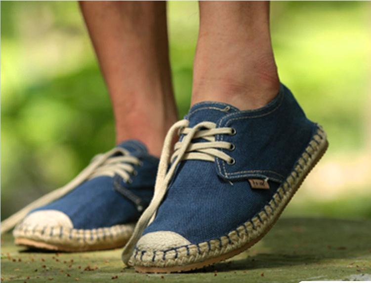 Aliexpress.com Comprar Primavera otoño hombres nuevos zapatos de lona ocasionales de la trenza de paja pisos alpargatas Mocasines Sperry Mocasines Hombre