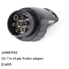 12 V 7 Pin plug to 13 Pin socket  trailer adapter connector  caravan  car lorry truck  plug socket 7 to 13 pin towing adapter