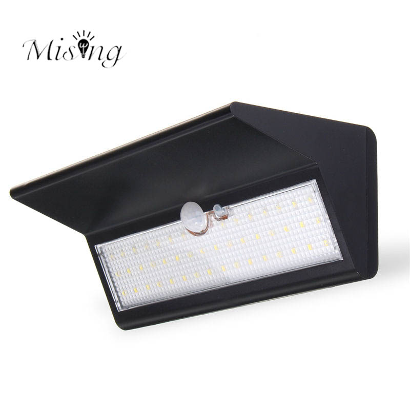 Mising 6W LED Outdoor Solar Motion Sensor Light 30LM Waterproof IP65 Solar Lights for Outdoor Garden Landscape Pathway Wall Lamp