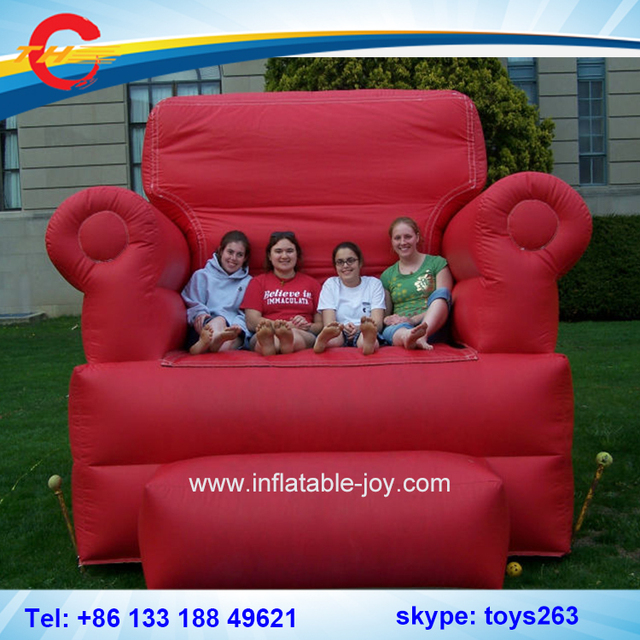 Free Shipping Big Inflatable Chair / Big Birthday Throne Chair Inflatable /  Inflatable Bouncy Chair For
