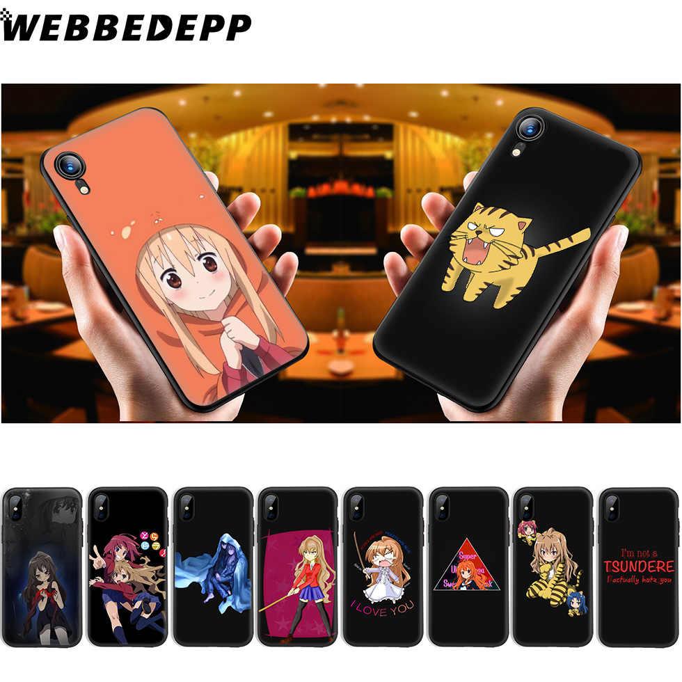 WEBBEDEPP Toradora Anime Yumuşak Silikon iphone için kılıf 11 Pro Xr Xs Max X veya 10 8 7 6 6S Artı 5 5S SE Durumda 8 Artı