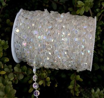 30 metrów 10mm wiszące akrylowe koralik Strand na ślub choinka centralny wystrój tanie i dobre opinie Kryształowy żyrandol 10mm Acrylic Strand Acrylic Chain 30meters
