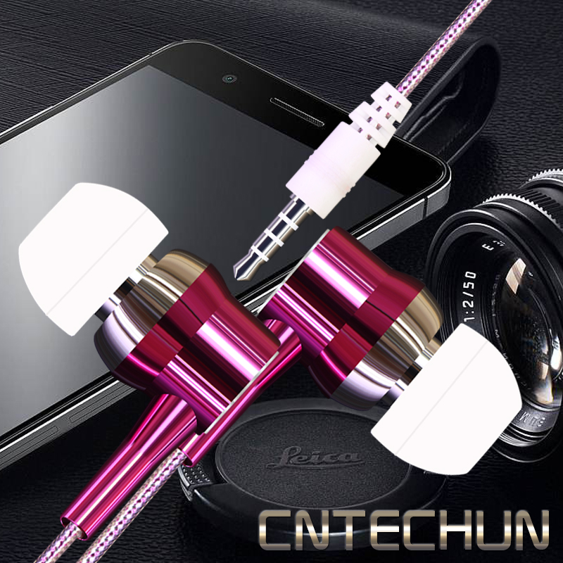 CNTECHUN EIE-X5 Noise Canceling Headset Stereo Earbuds with Microphone Crystal Fashion Microphone 3.5mm Port with 7 Colors
