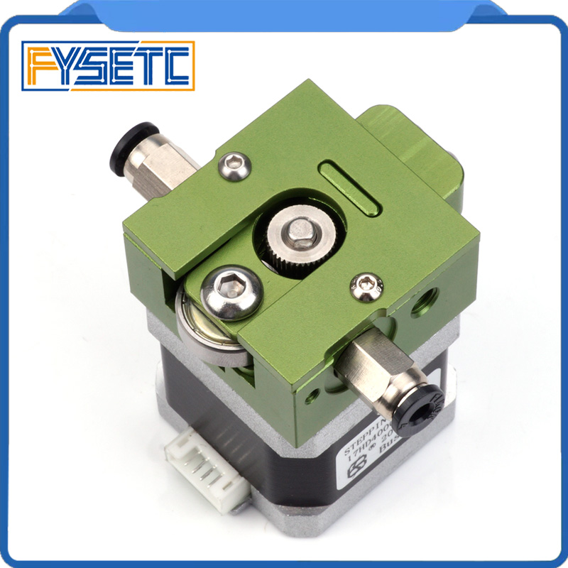 1Set Green DIY Reprap Bulldog All-metal Extruder For 1.75mm Compatible J-head MK8 Extruder Remote Proximity For 3D Printer light bulldog extruder