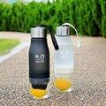 Novo 2016 presente de natal 650 ml plástico garrafa de água de infusão de frutas lemon infusor garrafa de bebida suco de esportes ao ar livre de água portátil copo