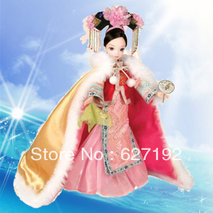 ФОТО 2015 Top Promotion > 3 Years Old Tsum Tsum 9036 Qing Dynasty Mingzhu Princess Kurhn Doll Pearl Costume Body Mount Joint Chinese