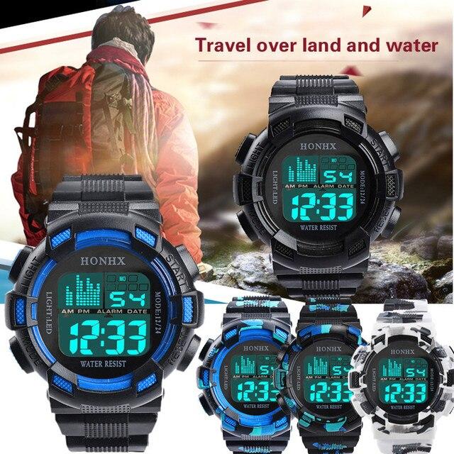Fashion Reloj Hombre Mens Digital LED Analog Quartz Alarm Date Sports Wrist Watc